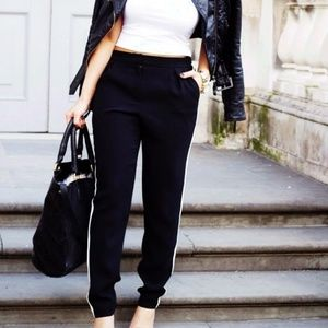 Black Trousers with white Stripe